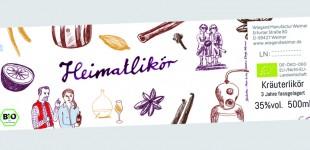 Liköretikett für Wiegand Manufaktur Weimar