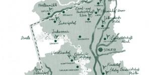 Gezeichnete Karte für den Saale-Holzland-Kreis