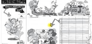 Lydia Keßner Illustration »Bürokalender«