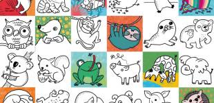 Lydia Keßner Portfolio_Tierkinder Malbuch